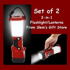 set of TWO Deluxe Flashlight / Lantern camping hunting car road emergency kit $29.95 http://stores.ebay.com/Slems-Gift-Store  *OR* order directly from me at dslem3@yahoo.com and receive 10% off your order!