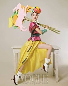 From Vogue Korea's spring-themed fashion editorial