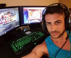"""153 Likes, 5 Comments - Chris Meyer (@meyerflies) on Instagram: """"If you're not playing 3 games at once, you're not a REAL gamer. #gamer #gaymer #dota2 #hearthstone…"""""""