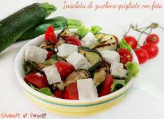 insalata di zucchine grigliate con feta e pomodorini ricetta piatto unico estivo