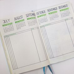 Showing you a new method for future planning with your bullet journal…