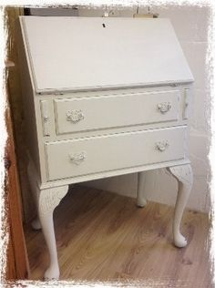 Bureau Painted in Autentico Chalk Grey - legs would take up a little extra space but very pretty.