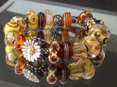 You Are My Sunshine-from a member on Trollbeads Gallery Forum. Join us to see great Trollbeads inspiration.