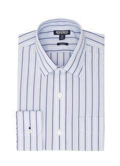 Daily Grind - Point Collar - Blue & White Stripe