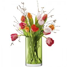 Our bestselling Flower Colour collection now includes this mouthblown cylinder vase/lantern. Use it to display flowers or candles for year-round versatility. Rich colour is encased within thick glass walls - ideal for giving your home a colourful update.