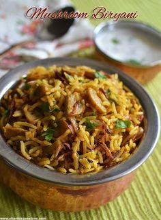Chettinad Mushroom Biryani Recipe t &t