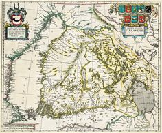 The first printed map of the Grand Duchy of Finland (Magnus Ducatus Finlandiæ). by Dutch map maker Joan Blaeu Old Maps, Antique Maps, Vintage Wall Art, Vintage Walls, I Think Map, History Of Finland, Map Maker, Map Pictures, World History Lessons