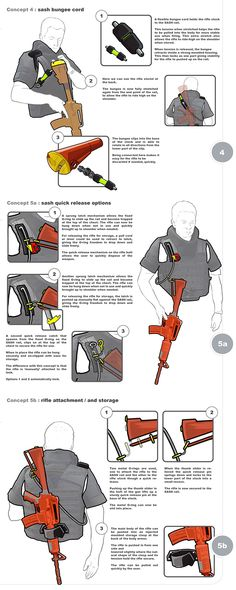 Storage & Clean Shot Body Armour System for the M4 Carbine Assault Rifle. Developed for the Irish Special Forces.