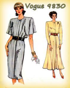 Vintage 1980s Sewing Pattern Vogue 9830 by mmmsvintagepatterns