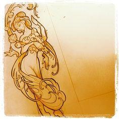 """@tenthsanctum @overeasyomaha #lakshmi #sketch"""