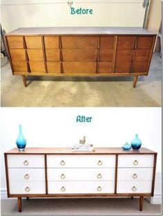 Ideias para renovar os móveis com antes e depois                              …