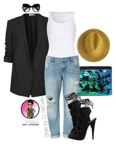 """Untitled #2743"" by stylebydnicole ❤ liked on Polyvore featuring Helmut Lang, American Vintage, Zara, Prada and Giuseppe Zanotti"