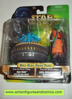 Kenner/Hasbro toys STAR WARS: power of the force / potf II 2 potf2 action figures for sale to buy 1998 walmart exclusive, MAX REBO & DODA BODONAWIEEDO NEW - still factory sealed in the original packag