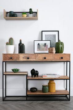 Welded Furniture, Unique Furniture, Furniture Design, Room Decor Bedroom, Living Room Decor, Coffee Bar Home, Modern Console Tables, Living Room Inspiration, Modern Decor