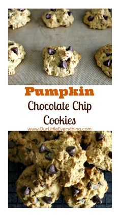 One bite and I was addicted to these Pumpkin Chocolate Chip Cookies!  They are the perfect Fall recipe and stayed moist for days!  Absolutely perfect! | www.OurLittleEverything.com