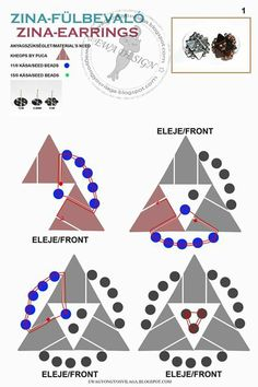 FREE - ZINA Earrings Pattern by Ewa Design. Page 1 of 2