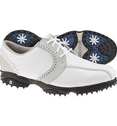 FootJoy Women\u0027s GreenJoys Spiked Golf Shoes - White/Cloud (FJ# 48357) at