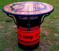 INDUSTRIAL EVOLUTION FURNITURE CO.is proud to bring you another awesome version of the pub table!!! this table is for the ultimate firemans man cave
