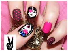 23 Creative Nails Tutorials I wouldn't personally try this because I don't like that type of thing but for all of you who do, go for it! Nail Swag, Hot Nails, Hair And Nails, Nagel Bling, Bling Nails, Creative Nails, Nail Tutorials, Mani Pedi, Trendy Nails