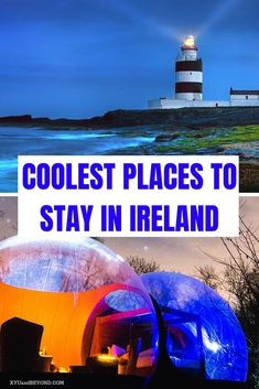 32 of the Coolest & Unique Places To Stay In Ireland Ireland has an outstanding amount of unique places to stay at. Unusual places to stay in Ireland from Yurts to Lighthouses bubble domes to treehouses it's all here Places To Stay In Ireland, Cool Places To Visit, Places To Travel, Travel Destinations, Places To Go, Ireland Travel Guide, Europe Travel Guide, Travel Guides, Travel Info