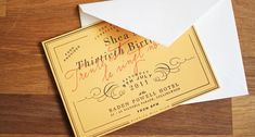 Love these letterpress invites inspired by Veuve-Cliquot