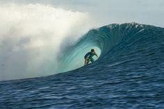 Ricardo dos Santos on his breakthrough performance in Tahiti. #SURFER #SURFERPhotos