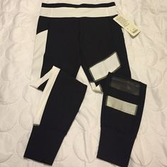 Lululemon speed tight ii*se Lululemon size 8 Speed Tight II*SE. New with tags. Never worn. Black and white with grey reflective stripe. lululemon athletica Pants Leggings