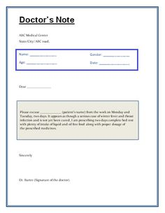 Sample Doctor Notes Template