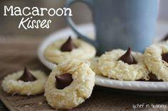 Macaroon Kisses (Almond Joy Cookies)   Chef in Training