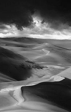 San Dunes. Desert. Landscape Photography. #blackandwhite #bw #landscape #photography