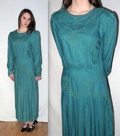Vintage 20s style Drop Waist Dress / Edwardian by BellaViveVintage, $34.00