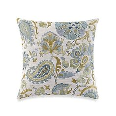 Make-Your-Own Pillow Saika Throw Pillow Cover in Green