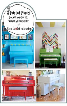 8 Painted Pianos that make you say, Wheres my Paintbrush?