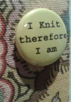 I can relate to that. Knitting Humor, Crochet Humor, Knitting Yarn, Knit Crochet, Button Maker, Knit Art, Lana, Crocheting, Needlework