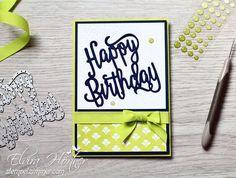 Happy Birthday - Marineblau und Limette - Stampin Up- In Colors-stempelzimmer
