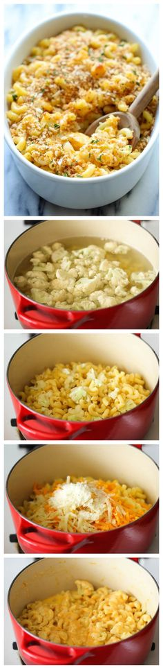 """Skinny Cauliflower Mac and Cheese by damndelicious"""" A lightened-up mac and cheese that you can eat guilt-free. #Pasta #Cauliflower #Mac_Cheese"""