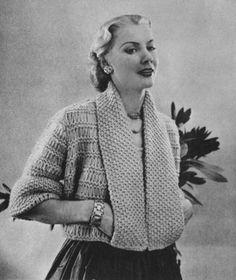 Vintage Little Minx Jacket Knitting Pattern 40s Fashion, Fashion Outfits, Knitting Projects, Knitting Patterns, Classic Style, My Style, Classic Fashion, Sunday Images, Holiday Resort