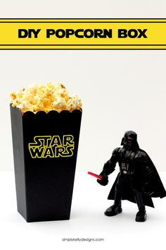 Download a free cut file to make your own DIY Star Wars popcorn box - Simply Kelly Designs #sponsored