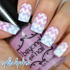 Pastel Squiggles #nailart #notd #indiepolish #nailguides