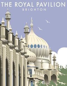 The Royal Pavilion by Dave Thompson, signed open edition print, 400 x 500 mm  https://www.castorandpollux.co.uk/the-royal-pavilion-by-dave-thompson-signed-open-edition-giclee-400-x-500-mm-mounted-on-card/dp/7989