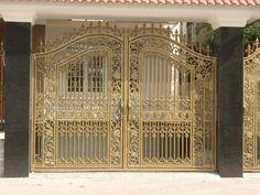 Mẫu cửa cổng nhôm đúc GAT 145