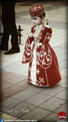 Circassian girl, Caucasus, Russia
