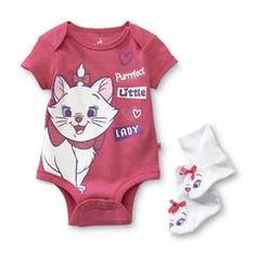 Aristocats Infant Girl's Bodysuit & Booties - Marie - Kmart