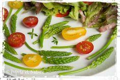 Salade d'aspergettes aux lardons et au vinaigre de framboises © Popote et Nature