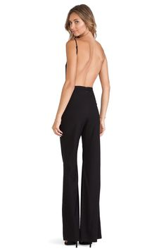 BCBGeneration Sheer Yoke Jumpsuit in Black | REVOLVE | Style Board ...