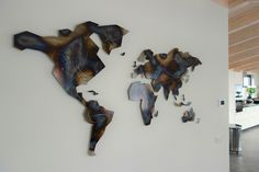 World Map Wall Art, Abstract, Maps, Handmade, Sign, Home Decor, Atelier, World Wide Map, Cards