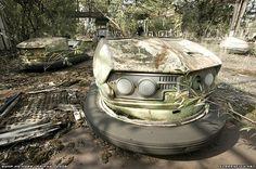 Abandonded amusement park in Pripryat (Chernobyl).