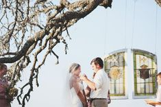 Destiny and Dan were married on an overlook on the bride's family property in the Texas Hill Country. One detail that really stood out was the inclusion of two gorgeous hanging windows as the cerem...