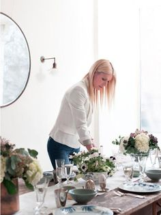 Gwyneth Paltrow's Easter tablescape | More here: http://mylusciouslife.com/celebrity-style-gwyneth-paltrow/