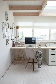 Minimalist homey workspace